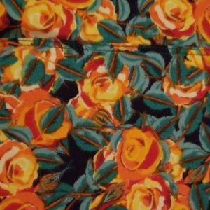 LuLaRoe Pants - ❤LuLaRoe TC Leggings orange roses